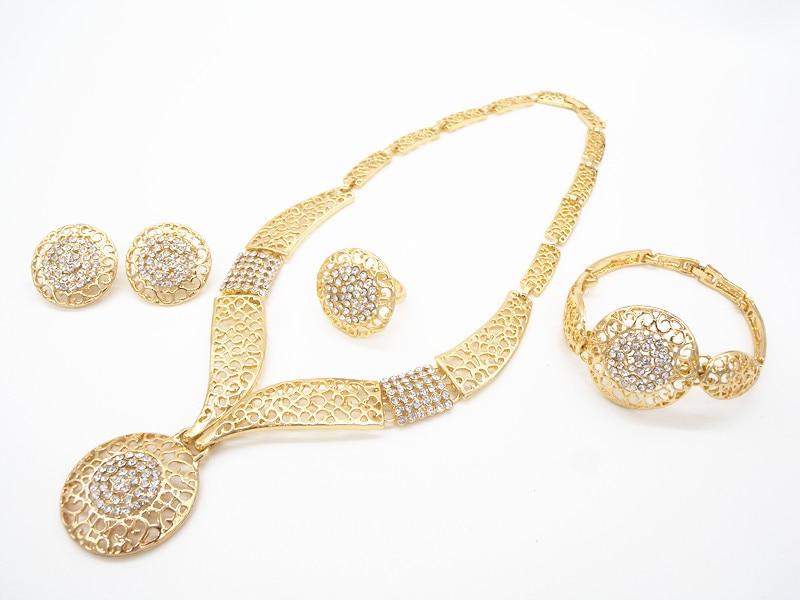 UPWARD dubai new design Women Fashion 18K gold plated Jewelry set