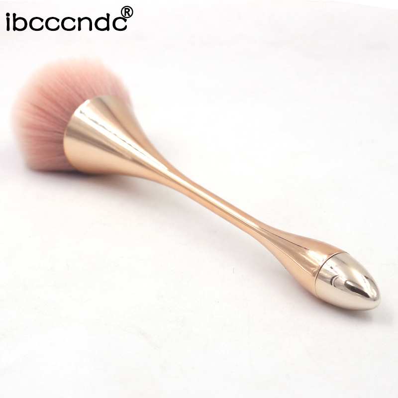 Makeup-Brushes-Set Foundation-Brush Professional High-Grade 1pc Gold Powder Champagne