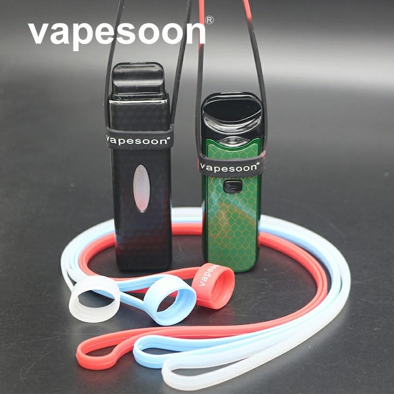 1pcs vapesoon universal silicone lanyard suit for UWELL Caliburn vape pen box mod pod system vape kit lanyard with hight quality bead