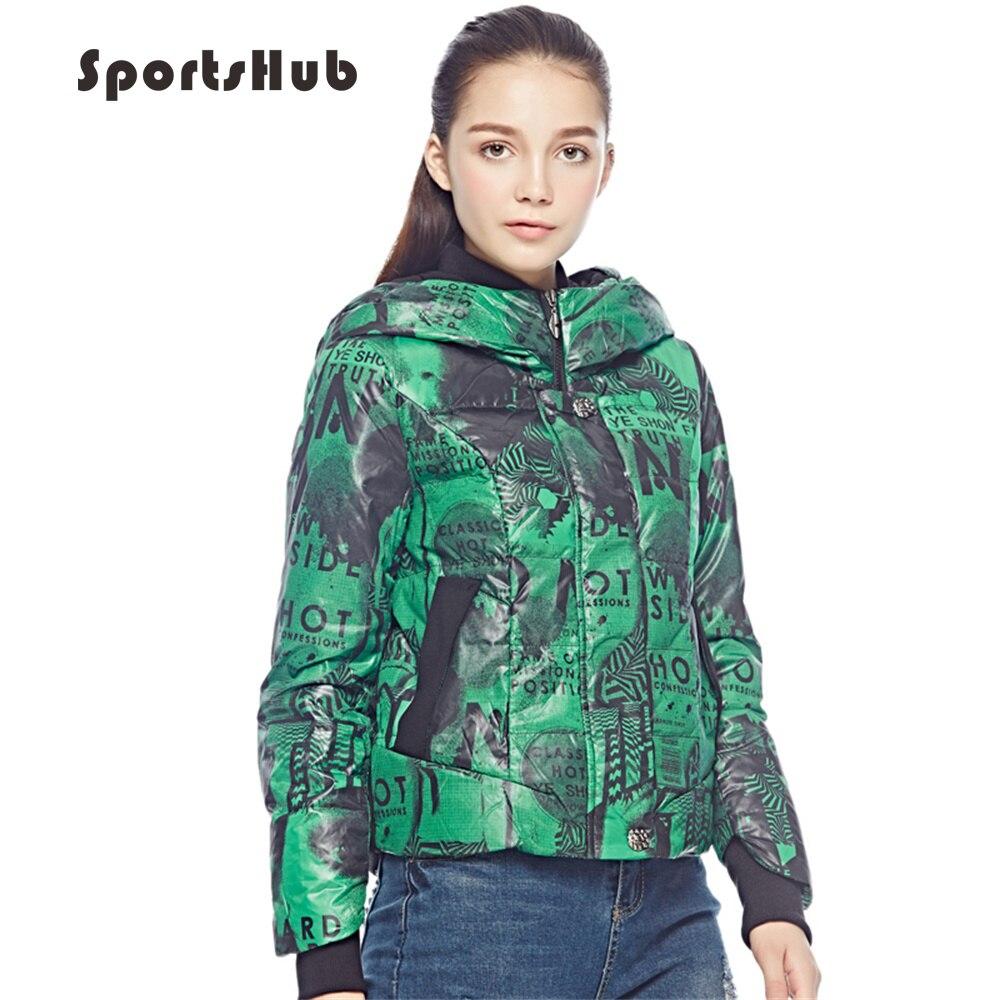 SPORTSHUB Camouflage Waterproof Regular Hoodies Women Camping Down Jackets  Outdoor Ladies Hoodies Hiking Down Coats SAA0050 553723988d