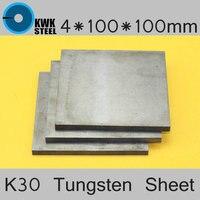 4 100 100mm Tungsten Sheet Grade ISO K30 YG8 44A K1 VC1 H10F HX G3 THR