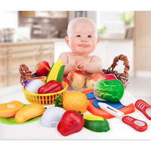 Image 3 - 1 مجموعة لعب الأطفال منزل لعبة قطع الفاكهة البلاستيك الخضار المطبخ الطفل الكلاسيكية الاطفال اللعب التظاهر Playset ألعاب تعليمية