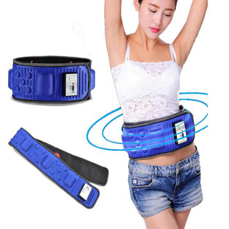 e805d0a252 5 Motor X5 Slimming Belt Massage Electric Vibrating Waist Exercise Leg Belly  Fat Burning Heating Abdomen