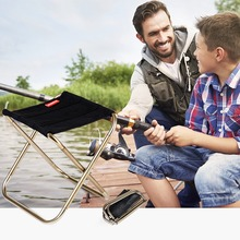 цены Lightweight Oxford Cloth Portable Folding Stool Camping Foldable Picnic Fishing Chair   Outdoor Fishing Chair with Bag