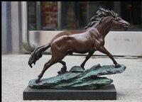 Puro Mármore Bronze Rapidamente correndo Cavalo Mobiliário Decoração Escultura de Arte|sculpture decorative|sculpture art|sculpture bronze -