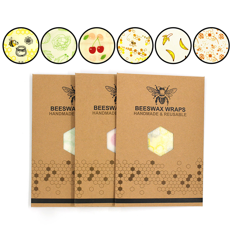 Food Fresh-keeping Packaging Beeswax Fresh Cloth Reusable Plastic Wrap Seal Lid Stretch Vacuum Food Packaging Kitchen Tools