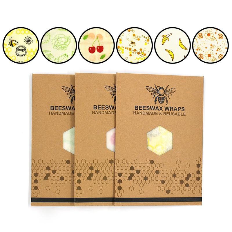 Пищевая Свежая Упаковка пчелиный воск свежая ткань многоразовая пластиковая оберточная крышка уплотнения стрейч вакуумная упаковка еды к...