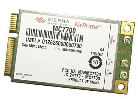 SSEA Original Desbloqueado Sierra Airprime Mc7700 100 100mbps 3G Lte 700 mhz Módulo Wwan Mini PCI-E Card Hspa + GPS
