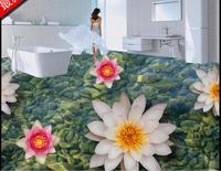 high quality 3d floor custom self adhesive wallpaper Floating stone 3d floor murals bathroom kitchen wallpaper 3d floor murals