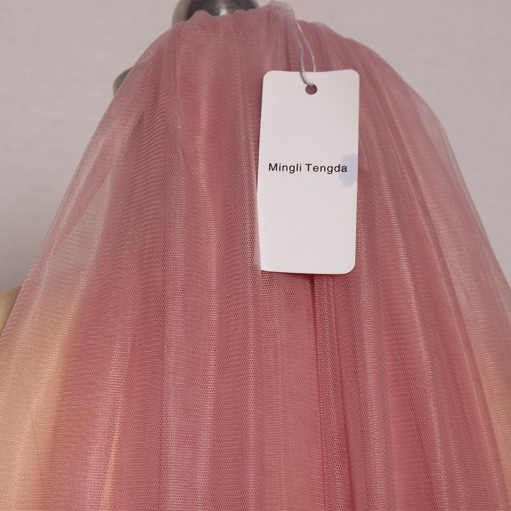 Mingli Tengda 300cm*150cm Sky Blue Wedding Veil Cut Edge Two Layer Cathedral Bridal Veils with Comb Elegant Wedding Accessories