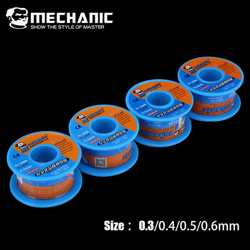 MECHANIC Rosin Core Solder Tin Wire 40g 0.3/0.4/0.5/0.6mm Low Melting Point Soldering Wire Welding BGA Repair Tools