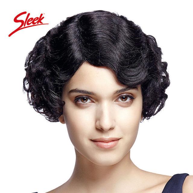 Sleek short wigs for black women,100% Remy human hair wigs,Virgin curly Wig,Brazilian virgin hair Aliexpress UK Free Shipping