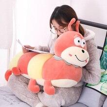 50/60/80 Cm Large Soft Colorful Cartoon Carpenter Worm Plush Toy Climbing Mat Pillow Toys For Children