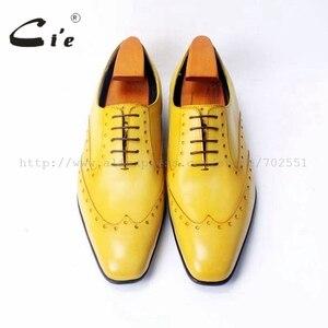 Image 4 - Cie vierkante teen laceup gemengde kleuren oxfords brilliant geel pure echt leer mannen casual schoen ademend handmadeOX311