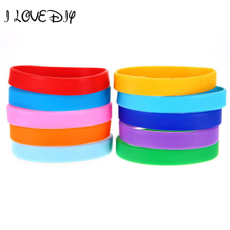 2017 New 2pcs Assorted Custom Silicone New Design Charm Bracelet Elastic Rubber Wristbands for Sport man A4294