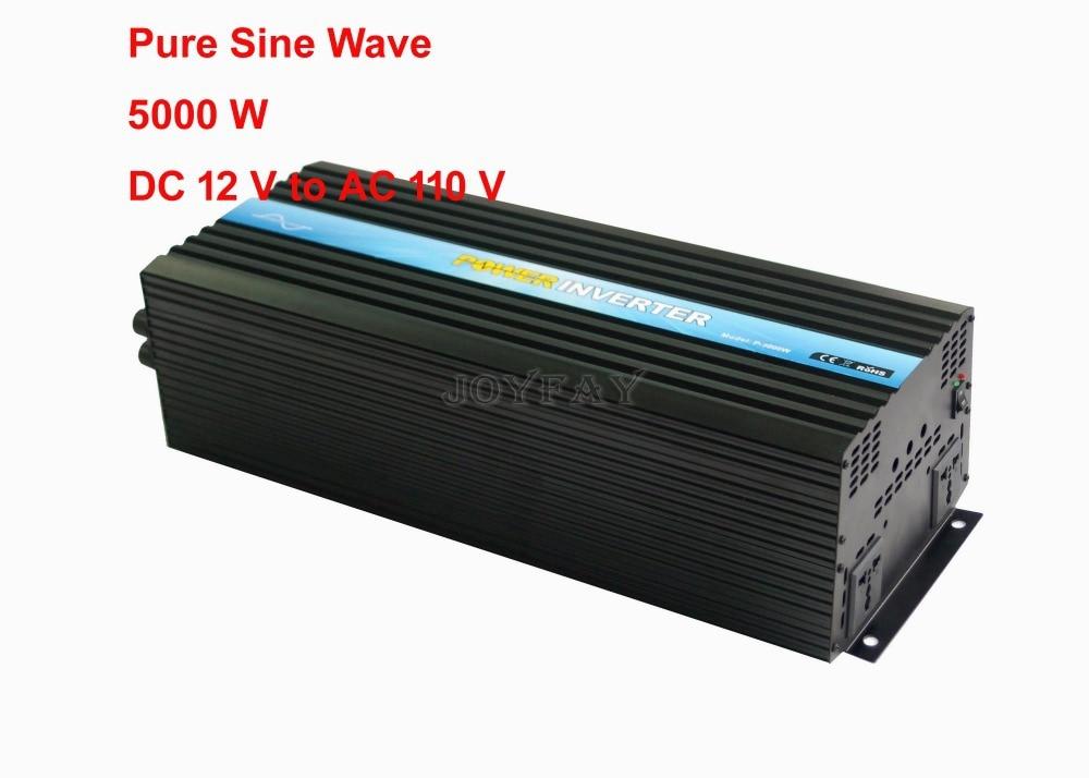 цена на 5000W Pure Sine Wave DC 12V to AC 110V Power Inverter