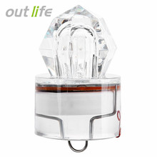 Outlife LED Deep Drop Underwater Fishing Bait Fishing Tackle Light Squid Electronic Luminous Strobe Lure Lamp
