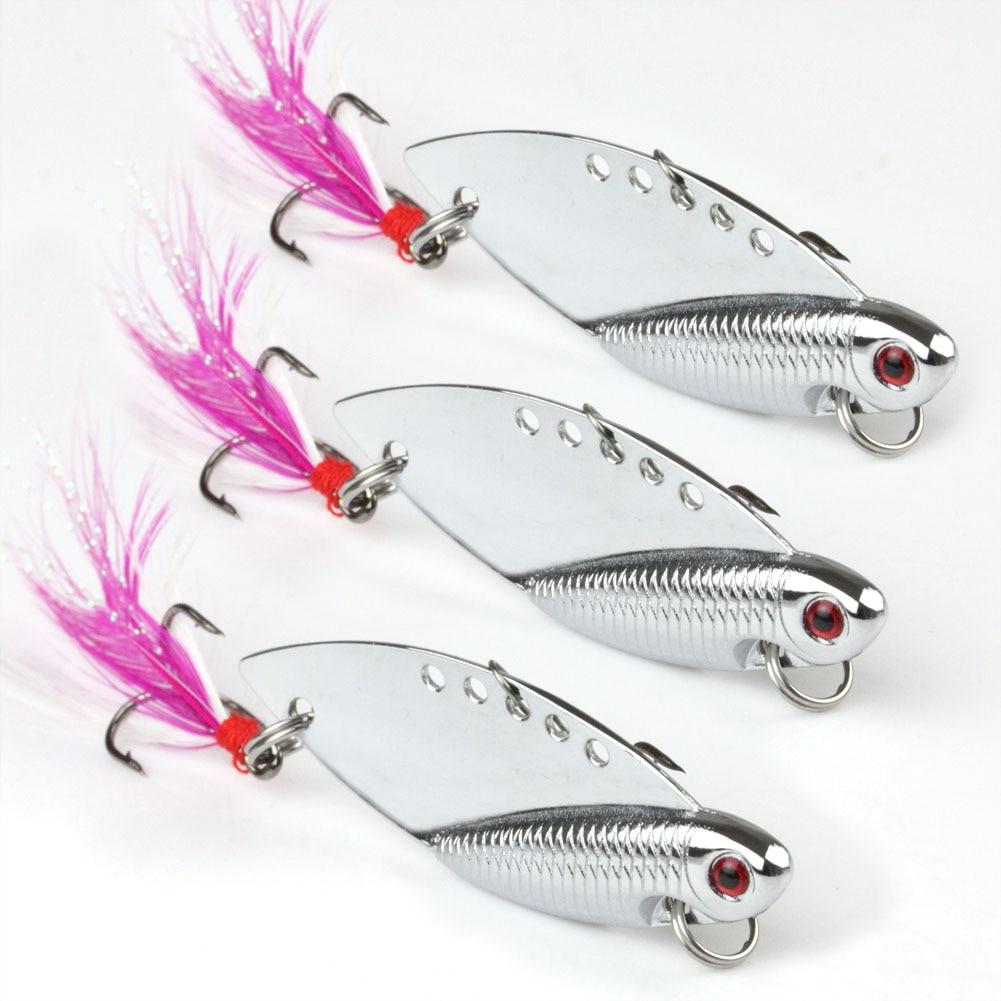 Freshwater fish bait - 10pcs Flying Fish Vib Blade Lure Crank Fishing Bait Freshwater 10g 50mm 1 96 Sliver