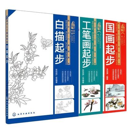 3pcs/set Chinese Coloring Painting Book For Start Learners ,Learning Chinese Traditional Painting