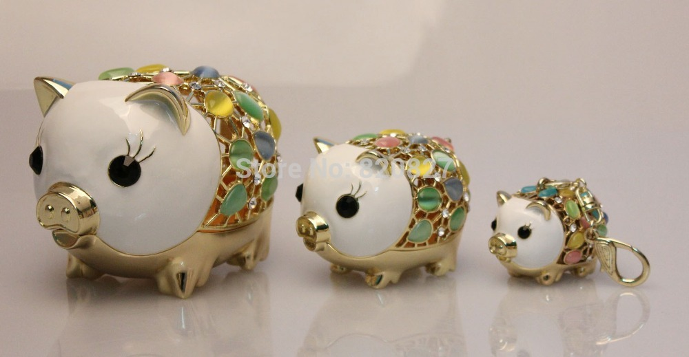 3 Pc Pig Family Home Decor Mother Mom Babies Trinket