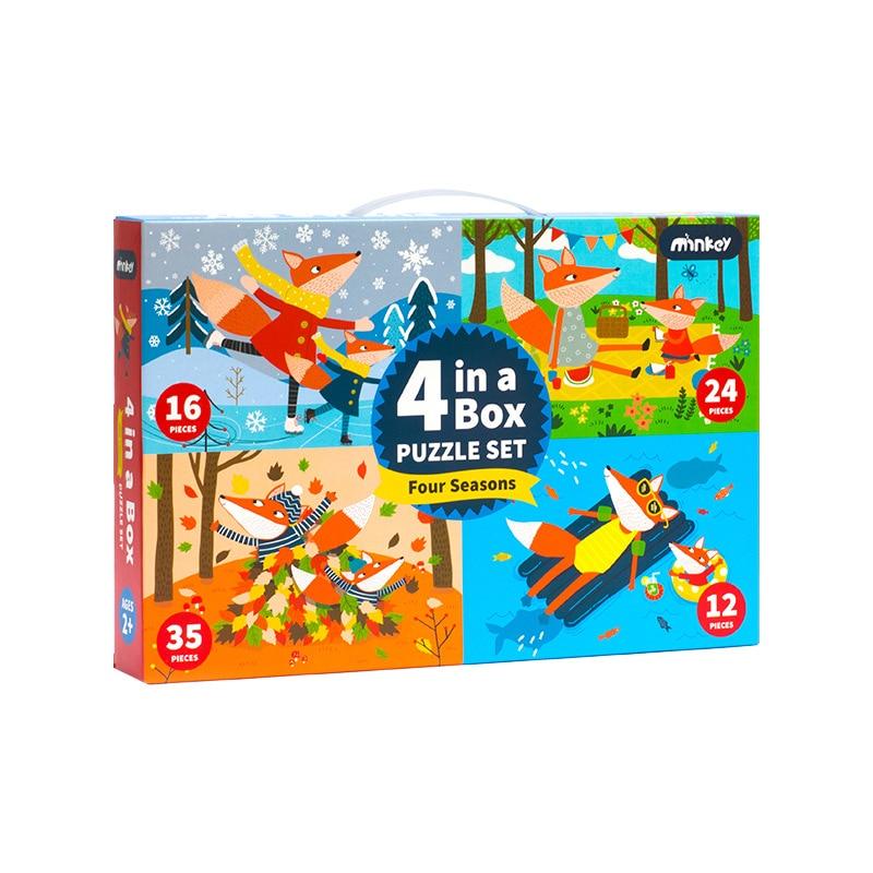 Animaux de Woodentoy Puzzles de circulation début de l'éducation en bois de Jane à l'illumination dure jouets de pensée Active