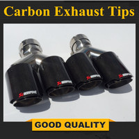 One Pair Y Model Akrapovic Carbon Exhausts Dual End Tips for BMW BENZ AUDI VW Exhaust Dual Muffler Pipes Tail Tips