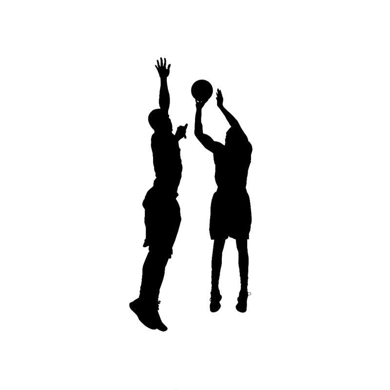 6 4 14 4cm Fashionable Two People Playing Basketball Car