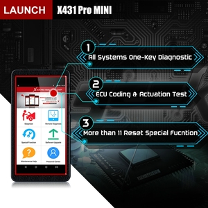 Image 2 - Uruchomienie X431 Pro Mini OBD2 Auto pełny System narzędzie diagnostyczne wsparcie Bluetooth/Wifi X 431 Pro Mini skaner samochodowy 2 lata darmowa aktualizacja