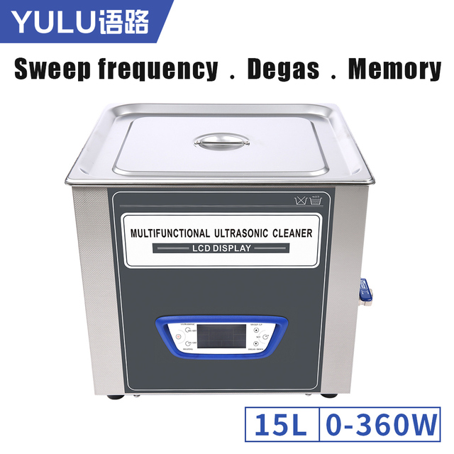 TUC150 Ultrasonic Cleaner Bath 15L Adjustable Power Sweep Degas Function Sleeping mode Low Noise Ultrasound Washer Machine Tanks