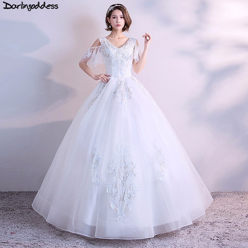 Cheap Plus Size Ball Gown Wedding Dresses: Luxury Princess Ball Gown Wedding Dresses 2018 Backless