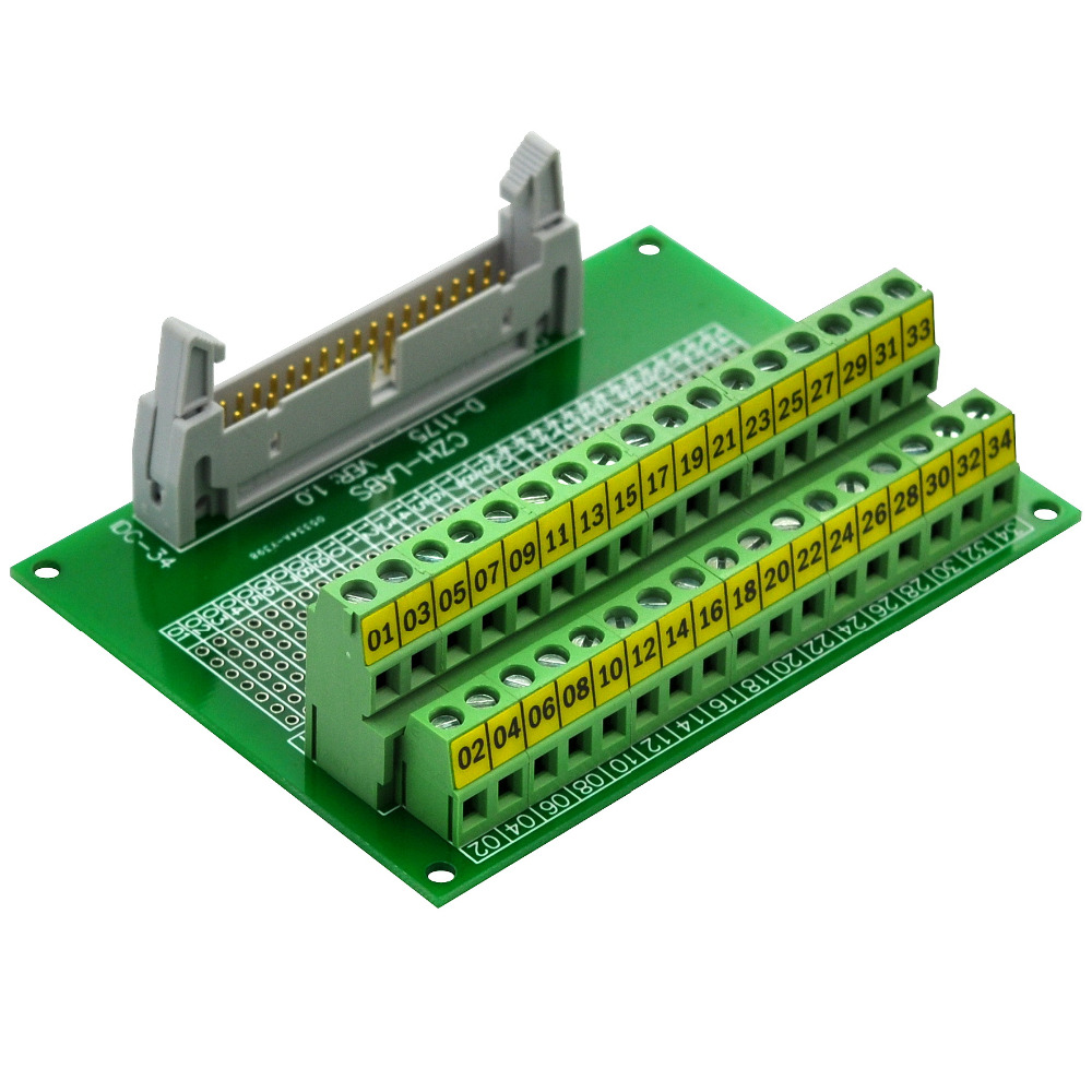 CZH-LABS IDC-34 Male Header Connector Breakout Board Module, IDC Pitch 0.1, Terminal Block Pitch 0.2 102mm tube o d x 106mm ferrule o d 304 stainless steel sanitary weld ferrule connector pipe fitting