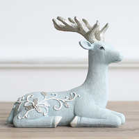 Ins Hot Nordic deer horse Ceramic fairy angle Statue Figurine Miniture Home decor table Decoration Crafts kid Chirsmas gift