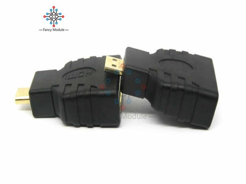 Micro hdmi macho para hdmi fêmea adaptador acoplador conector conversor suporte 3d 4 k 1080 p resolução micro hdmi dispositivos de porta