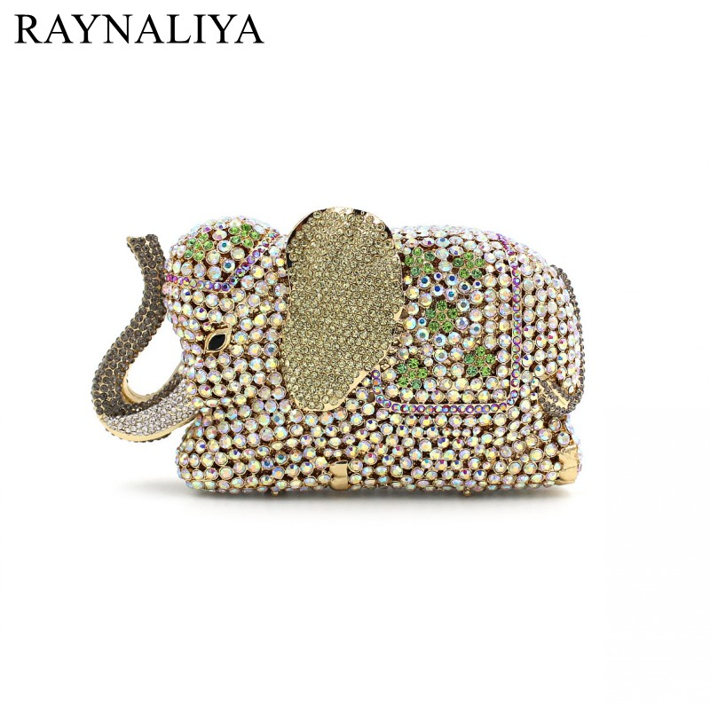 Women Animal Shape Luxury Crystal Clutch Handbag Full Diamonds Evening Bag Party Purse Shoulder Rhinestone Bag SMYZH-E0325