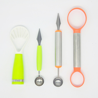 Creative Fruit Carving Knife Watermelon Baller Ice Cream Dig Ball Scoop Spoon Baller Diy Assorted Cold