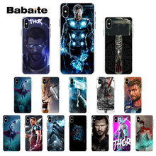 Babaite Thunder Thor GOD Colorful Cute Phone Accessories Case for Apple iPhone 7 6 6S 8  Plus X XS MAX 5 5S SE XR Cellphones
