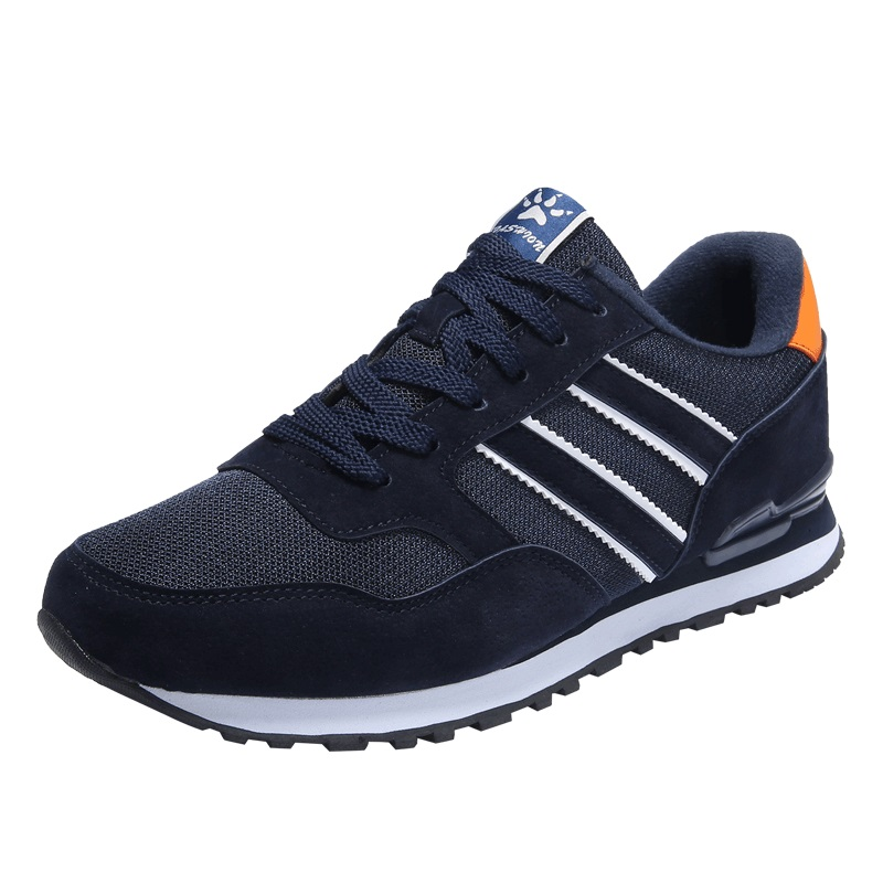 New running sneakers men Summer pig suede Men sport Shoes high quality men trainers jogging free run Jogging shoes Plus Size45 2017brand sport mesh men running shoes athletic sneakers air breath increased within zapatillas deportivas trainers couple shoes
