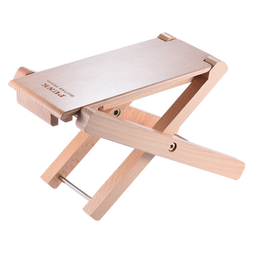 Musical Instruments High Quality Foldable Wooden Guitar Foot Rest Stool Pedal 4-level Adjustable Height Beech Wood Material