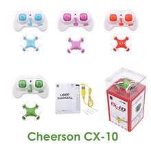 E T cheerson cx-10 cx10 mini 2.4ghz 4ch rc remote control quadcopter helicopter drone cx 10 led toys with gift today