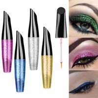 1Pc Glitter Shimmer Liquid Eyeliner Metallic Eye Liner Shadow Pencil Waterproof Eyeshadow Fashion Make up Tool 10 Colors Eye Shadow