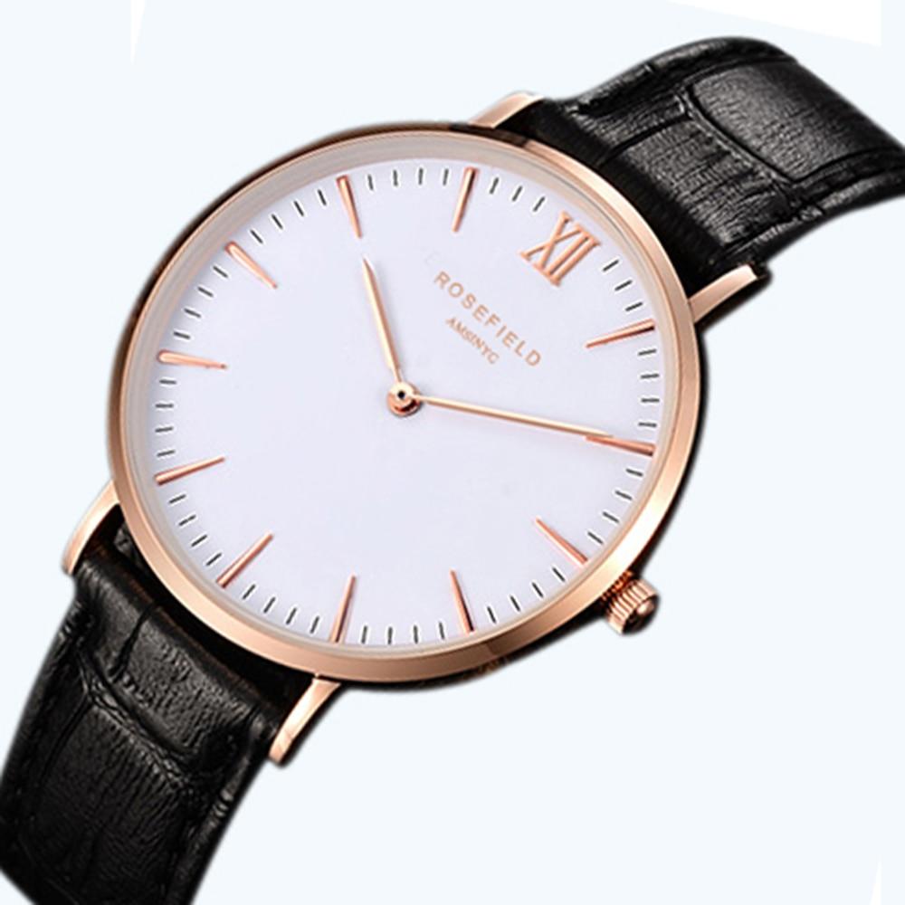 2016 new belt male table Thin and simple design Luxury brand Belt Ladies Watch neutral Bauhaus design Ultra-thin waterproof bauhaus bauhaus mask lp cd