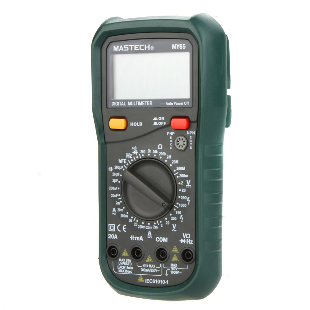 MASTECH MY65 41/2 HIGH ACCURACY Digital Multimeter DMM AC/DC Voltmeter Ammeter Ohmmeter w/ Capacitance Frequency & hFE Test