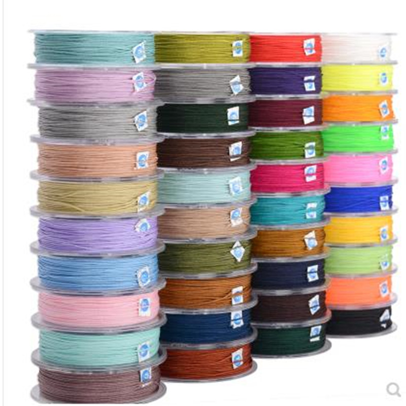 0.8mm Nylon Cord Thread Chinese Knot Macrame Cord Bracelet Braided String DIY Tassels Beading 25m/roll title=