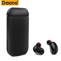 Daono B5 Mini Wireless Bluetooth Earphone Stereo Earbud Headset With Charging Box Mic For Xiaomi For iphone 7 8 Plus For Samsung