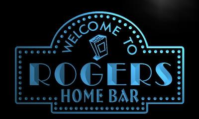 x1054-tm Rogers Home Bar Custom Personalized Name Neon Sign Wholesale Dropshipping On/Off Switch 7 Colors DHL