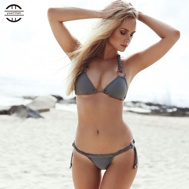 fcfb0b4d97d 2019 New Sexy Beach Bikinis Set Hot Girl Swimwear Women Bathing Suit Solid  Beachwear Women's tracksuit Sex Swimsuit Bikini