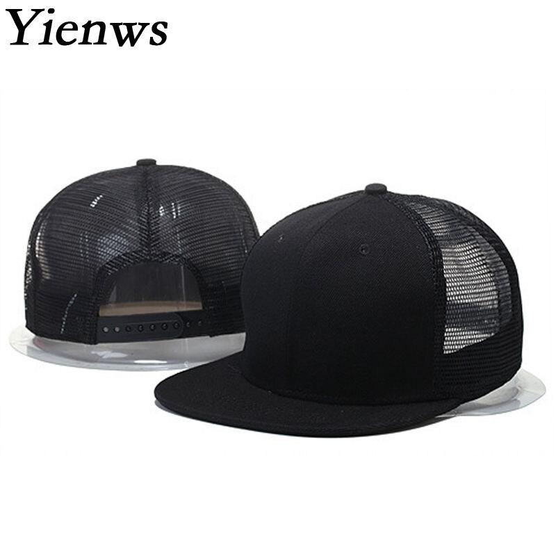 Prix pour Yienws papa chapeaux en gros hommes à larges bords droite chapeau net mesh cap gorras planas snapback os casquette de baseball camouflage yic343