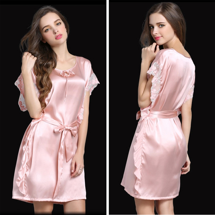 2016 Nieuwe Collectie Satijn Zijde Sexy Womens Nachtjapon satijn nightie tenis feminino nachtkleding satin night jurk sexy lingerie pijama - 3