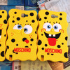 New Arrival Hot Sales Silicon Cute Cartoon SpongeBob SquarePants Case For Samsung Galaxy Note2 N7100 Cover Free Shipping