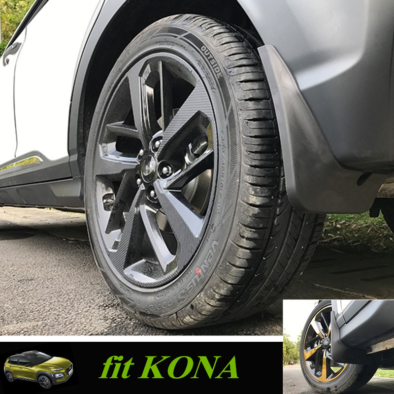 Mud Flaps Splash Guard for KONA Mudguard Mudflaps Fenders Pfector Accessories For Hyundai Kona/Kauai 2018 все цены